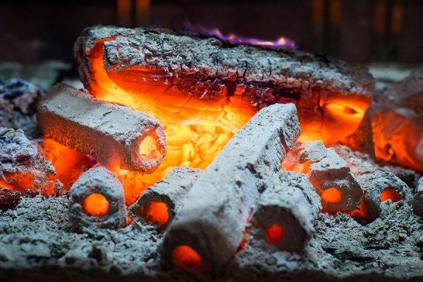 coals-burning
